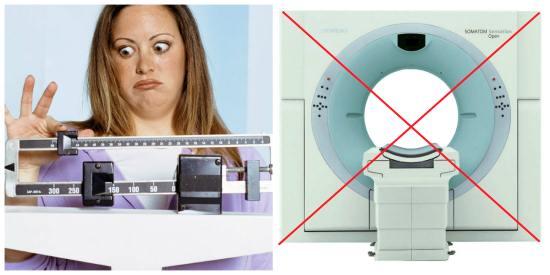 Лишний вес - противопоказания к КТ процедуре